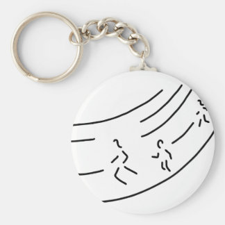 be enough-strain meter run track-and-field events  keychain