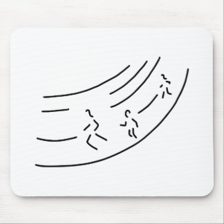 be enough-strain meter run track-and-field events  mouse pad