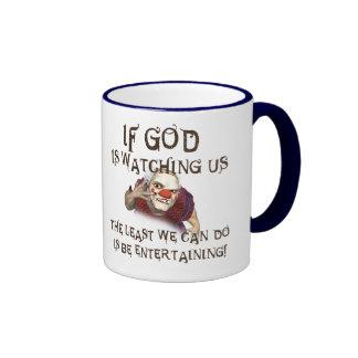 Be Entertaining Ringer Coffee Mug