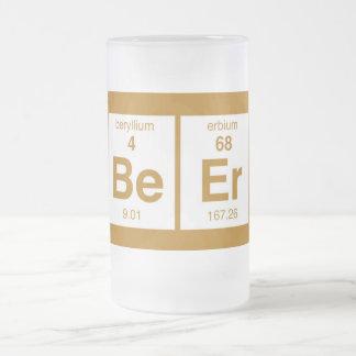 Be Er Frosted Glass Beer Mug