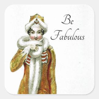 Be Fabulous Ackerman Fancy Lady Square Sticker