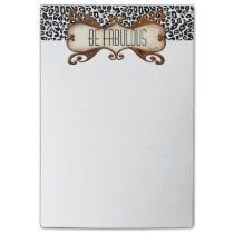 Be Fabulous Quote with Animal Print Post-it Notes