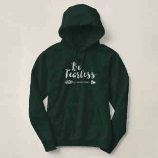 Be Fearless - Inspirational Script Typography Hoodie