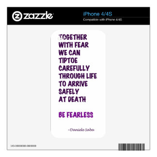Be Fearless iPhone 4 Decal
