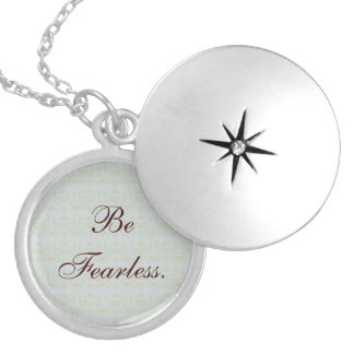 Be Fearless Locket Necklace
