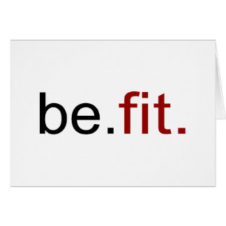 be fit greeting card