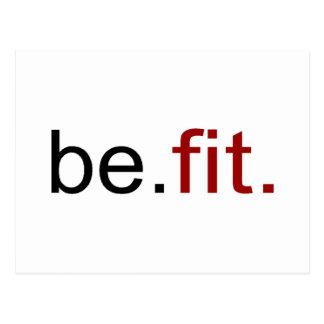 be fit postcard