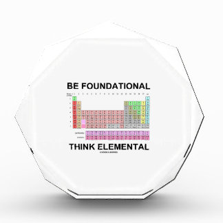 Be Foundational Think Elemental (Periodic Table) Award