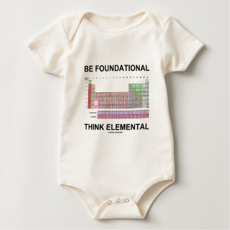 Be Foundational Think Elemental (Periodic Table) Baby Bodysuit