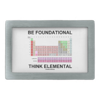 Be Foundational Think Elemental (Periodic Table) Rectangular Belt Buckle