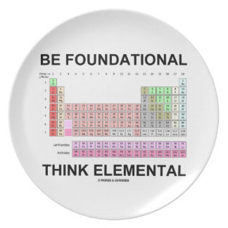 Be Foundational Think Elemental (Periodic Table) Dinner Plate