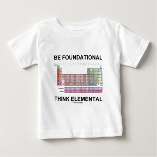 Be Foundational Think Elemental (Periodic Table) Shirt