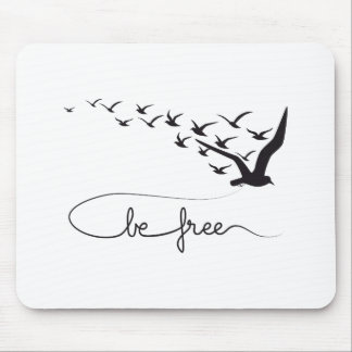 Be free, flying birds design mouse pad