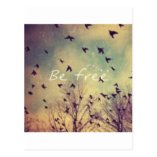 Be Free Postcard