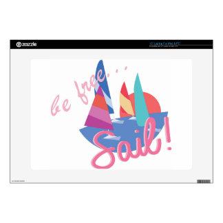 """Be Free Sail 15"""" Laptop Skin"""