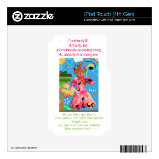 """""""Be Free Spirit!"""" iPod Touch (4th Gen) Skin Decals For iPod Touch 4G"""