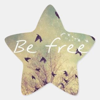 Be Free Star Sticker