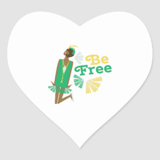 Be Free Heart Sticker
