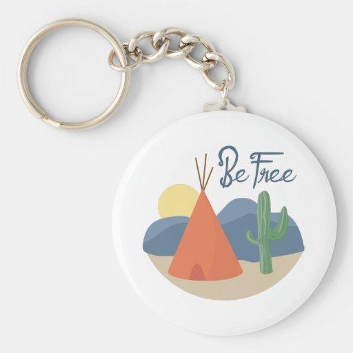 Be Free Teepee Key Chain