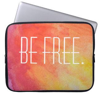 Be Free Tie Dye Laptop Sleeve. Computer Sleeve