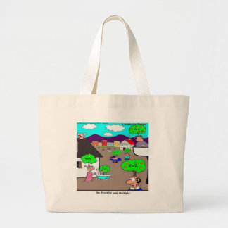 Be Fruitful & Multiply Funny Large Tote Bag