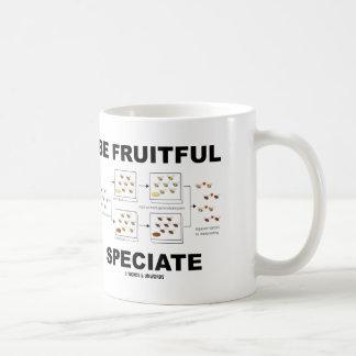 Be Fruitful Speciate (Evolution Humor) Mugs