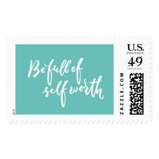 Be Full of Self Worth - Hand Lettering Design Stamp