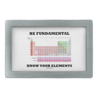 Be Fundamental Know Your Elements (Periodic Table) Belt Buckles