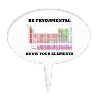 Be Fundamental Know Your Elements (Periodic Table) Cake Picks