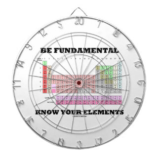 Be Fundamental Know Your Elements (Periodic Table) Dartboard With Darts