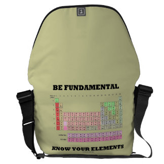 Be Fundamental Know Your Elements (Periodic Table) Courier Bags
