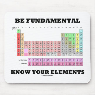 Be Fundamental Know Your Elements Periodic Table Mouse Pad