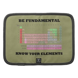 Be Fundamental Know Your Elements (Periodic Table) Organizers