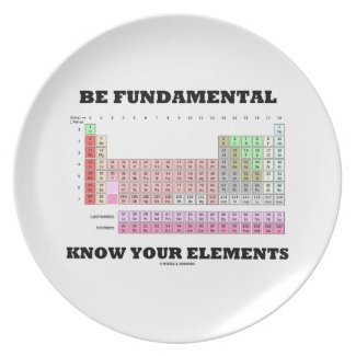 Be Fundamental Know Your Elements (Periodic Table) Party Plate
