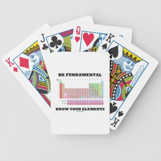 Be Fundamental Know Your Elements (Periodic Table) Playing Cards