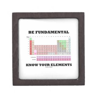 Be Fundamental Know Your Elements (Periodic Table) Premium Keepsake Boxes