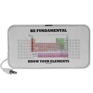 Be Fundamental Know Your Elements (Periodic Table) Travelling Speakers