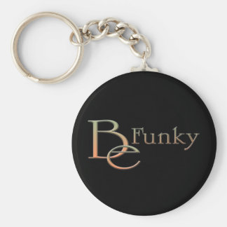 Be Funky Basic Round Button Keychain
