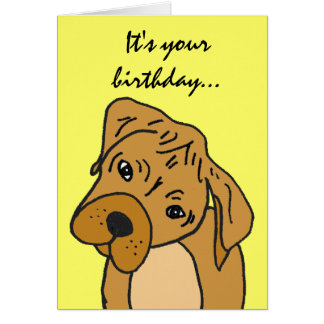 BE- Funny Puppy Birthday Card. Card
