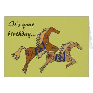 BE- Galloping Horses Birthday Card