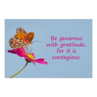 Be generous poster