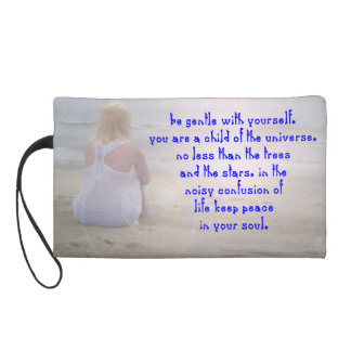 Be gentle with yourself. wristlet purse