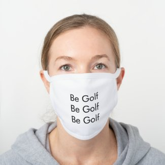 Be Golf Decorative Cotton Face Mask
