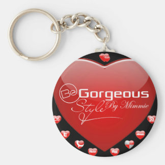 Be Gorgeous Styles By Mimmie Basic Round Button Keychain