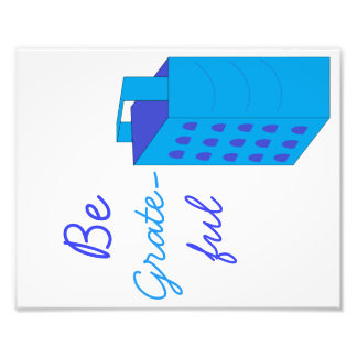 "Be Grate-ful Cheese Grater 8""x10"" Kitchen Art Photo Print"
