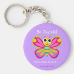 """Be Grateful"" Cute Butterfly Keychain"