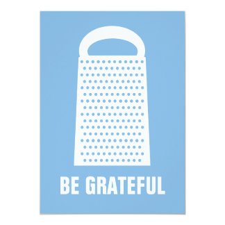 BE GRATEFUL FLAT CARD PERSONALIZED INVITE