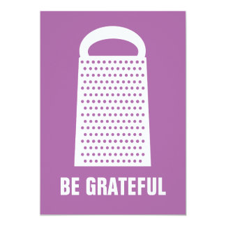 BE GRATEFUL FLAT CARD PERSONALIZED ANNOUNCEMENTS