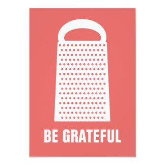 BE GRATEFUL FLAT CARD CUSTOM ANNOUNCEMENTS