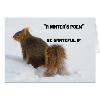 Be grateful if...(a winters poem card) card